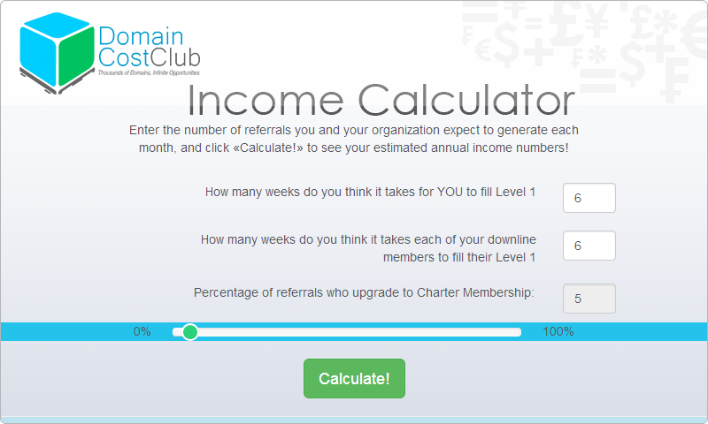 Income Calculator Placeholder