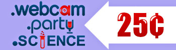 .WEBCAM, .PARTY, and .SCIENCE $0.25 Promo